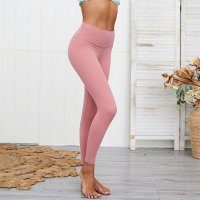 Women's High Waisted Gym Leggings Pink Yoga Tights
