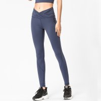 Women's High Waisted Leggings Workout Navy Pants