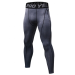 Men's Compression Pants Workout Tights Gym Grey Athletic Training Leggings