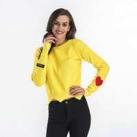Women's Tops Long Sleeve Yellow Winter Shirt Knitwear Sweater