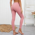 Women's High Waisted Gym Leggings Pink Yoga Tights [20190830-2]