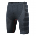 Men's Tight Fitting Shorts Black Red Gym Compression Shorts