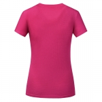 Women's Running Shirts Red Quick Dry Crew Neck Workout Tops [20180908-3]