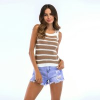 Women's Camisole Tops Summer Halters Khaki Knitting Vest