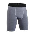 Men's Fitted Gym Shorts Tight Grey 9 Inch Inseam Compression Shorts