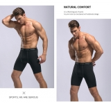 Men's Gym Shorts 7 inch inseam Black Athletic Workout Shorts [20181107-2]