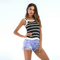 Women's Camisole Tops Summer Halters Black Knitting Vest