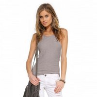 2018 Women's Tank Vest Tops Grey Slim-Fit Camisole