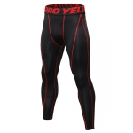 Men's Compression Pants Workout Tights Gym Red Athletic Training Leggings