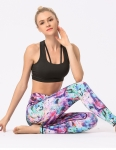 Women's Yoga Pants High Waisted Red Floral Leggings [20190627-1]