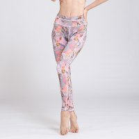 Printed Yoga Leggings Women's Pink Pants
