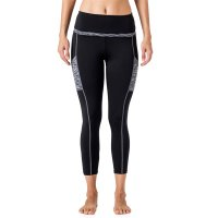 Women's Yoga Pants With Pockets For Phone Black And Grey High Waist Workout Leggings