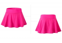 Women's Pink Tennis Skirt With Shorts Underneath [20201009-5]