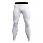 Men's Compression Pants White Snake Skin Workout Tights