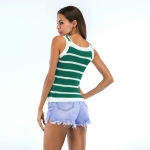 Women's Camisole Tops Summer Halters Green Knitting Vest [20180416-1]