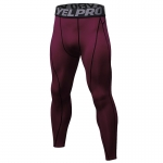 Men's Compression Pants Workout Tights Gym Claret Athletic Training Leggings