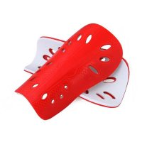 Soccer Shin Guards Adult Red Protection 1 Pair