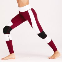 Women's Workout Leggings Red Fashion Yoga Tights Pants