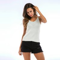 Women's Camisole Tops Grey V-Neck Knitwear Summer Halters Vest