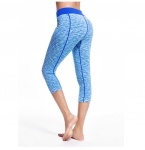 Women's Yoga Suits Workout Capri Pants Leggings Blue Gym Workout Bras [20181118-1]