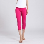 Active Capri Leggings Pink Women's Crop Pants