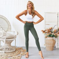 Women's High Waisted Workout Leggings Green Yoga Pants