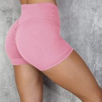 Women's Hot Yoga Shorts High Waisted Pink Leggings