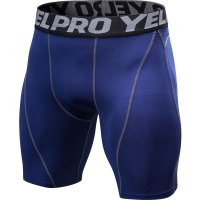 Men's Workout Shorts Tight Navy Compression Tights Pro Fitted Athletic Shorts