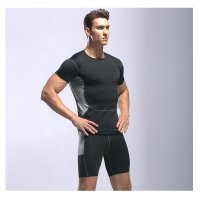 Men's Gym Clothes Black Fitness Apparel Workout Kits