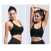 Women's Yoga Bras Wireless Gym Adjustable Black Sports Tops