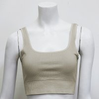 Women's Seamless Yoga Bra Khaki Quick Dry Crop Top