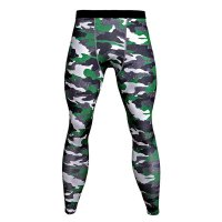 Men's Compression Pants Green Camo Fitness Tights