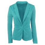 2018 Women's Blazers Green One Button Casual Suit [20180326-19]