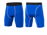 Men's Fitted Gym Shorts Tight Blue 9 Inch Inseam Compression Shorts [20181105-2]