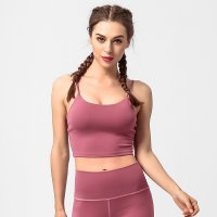 Women's Yoga Cropped Camisole Top Red Fitted Tank