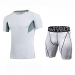 Men's Workout Clothes White Fitness Gym Wear Running Suits
