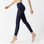 Yoga Leggings With Side Cutouts Navy Women's Pants