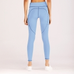 Women's Workout Leggings With Side Pockets Blue Tight Yoga Gym Pants [20181204-2]