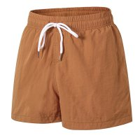 Men's Khaki Beach Swimming Shorts With Pockets