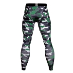 Men's Compression Pants Green Camo Fitness Tights [20190617-17]
