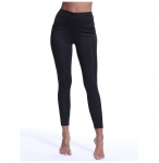 Women's High Waisted Workout Leggings With Pockets Black Gym Yoga Pants [20181123-3]