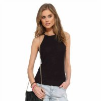 2018 Women's Tank Vest Tops Black Slim-Fit Camisole