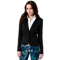 2018 Women's Blazers Black One Button Casual Suit