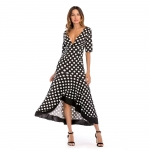 Women's Casual Dresses Black Sexy Short Sleeve Loose Long Dress