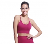 Women's Sports Bra Tank Top Seamless Claret Wireless Yoga Athletic Bras [20181111-1]
