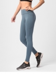 Women's Running Leggings With Side Pockets Grey Pants [20190912-3]