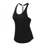 Women's Yoga Tank Tops Black Quick Dry Fitness Gym Workout Vest