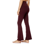 Women's Bootcut Yoga Pants With Pocket Claret High Waisted Leggings [20180907-4]