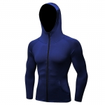 Men's Running Hoodie Full-Zip Blue Training Jackets Athletic Sports Outwear