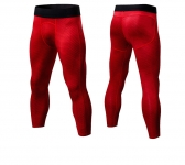 Men's Workout Pants Tights Gym Red Compression Capri Pants Sports Leggings [20181023-1]